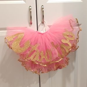 Pink Gold 2nd Birthday Tutu